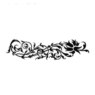 Wall flower ornament listed in flowers decals.
