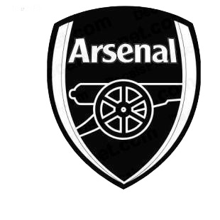 Arsenal bombers football team listed in soccer teams decals.