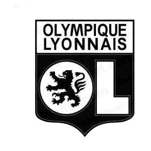 olympique lyonnais football team soccer teams decals decal sticker 2109. Black Bedroom Furniture Sets. Home Design Ideas