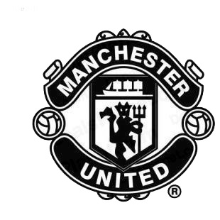 Manchester United football team listed in soccer teams decals.