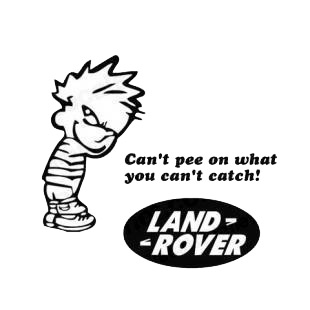 Can't pee on what you can't catch land rover listed in funny decals.
