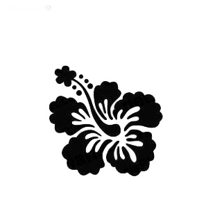 Hibiscus flower Hawaiian Tropical Flowers Hibiscuit listed in flowers decals.