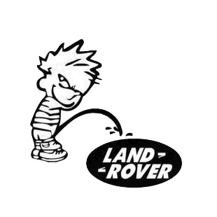 Pee on land rover listed in funny decals.