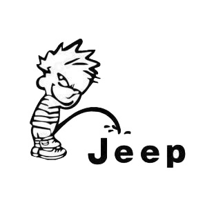 Pee on Jeep listed in funny decals.
