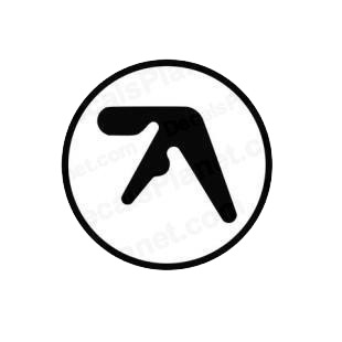 Aphex Twin band music listed in music and bands decals.