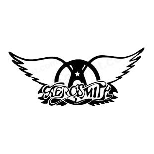 Aerosmith band music listed in music and bands decals.