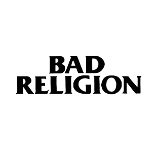 Bad Religion band music listed in music and bands decals.
