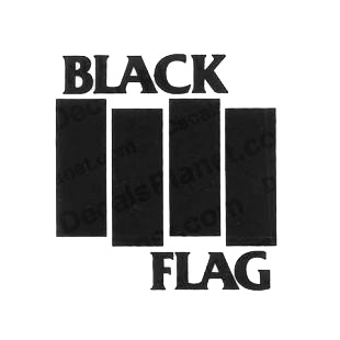 Black Flag band music listed in music and bands decals.