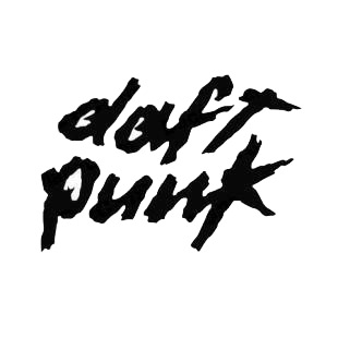 Daft Punk band music listed in music and bands decals.