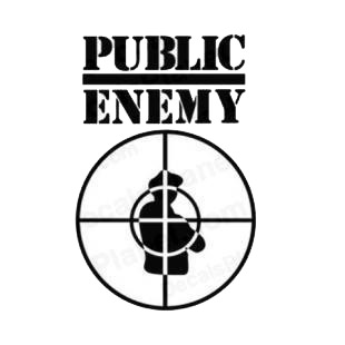 Public Enemy band music listed in music and bands decals.