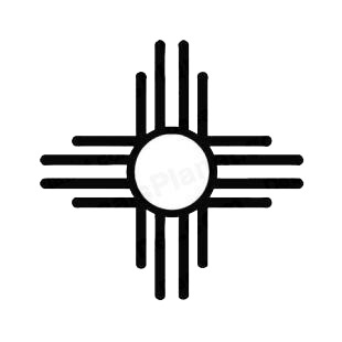 Zia sun symbol  listed in miscellaneous decals.