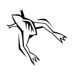 Jumping frog listed in amphibians decals.
