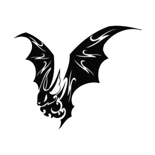 Bat with wings wide open listed in bats decals.