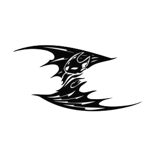 Bat with wings open listed in bats decals.