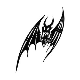 Scary bat listed in bats decals.