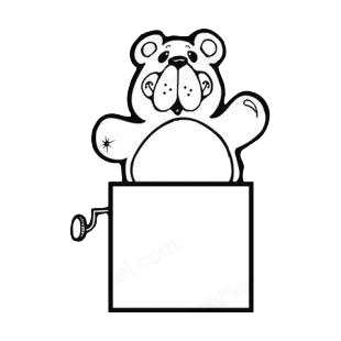Bear coming out of a box listed in bears decals.