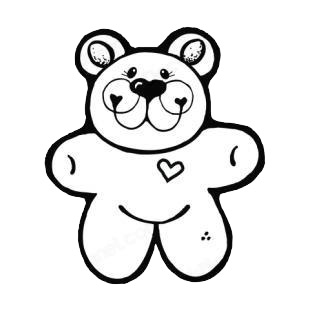 Love bear listed in bears decals.