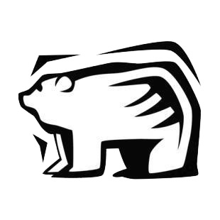 Polar bear listed in bears decals.