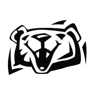 Grizzly bear face listed in bears decals.