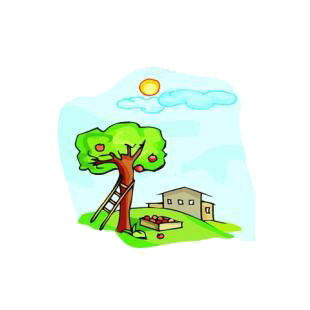 Apple tree listed in agriculture decals.
