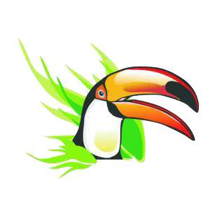 Tucan listed in birds decals.