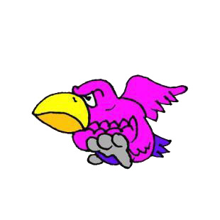 Angry pink bird listed in birds decals.