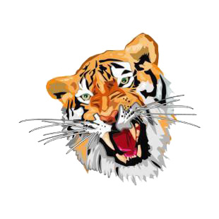 Angry tiger listed in cats decals.
