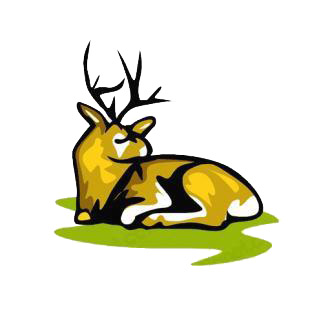 Deer laying down listed in deer decals.