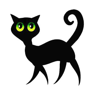 Black cat listed in cats decals.