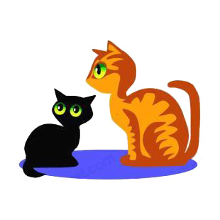 Black and brown cats listed in cats decals.