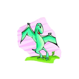 Green pterodactyl listed in dinosaurs decals.