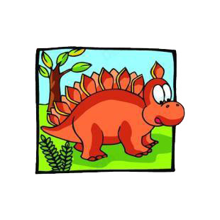 Baby stegosaurus listed in dinosaurs decals.