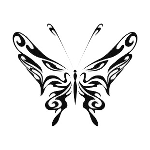 Butterfly listed in butterflies decals.