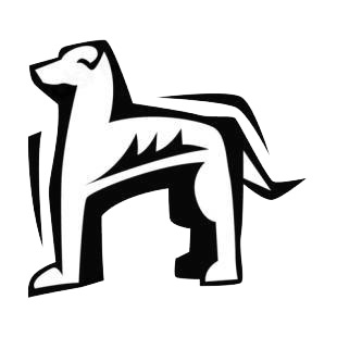 Greyhound listed in dogs decals.