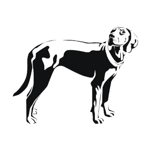 English foxhound listed in dogs decals.