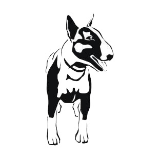 Boston bull terrier listed in dogs decals.