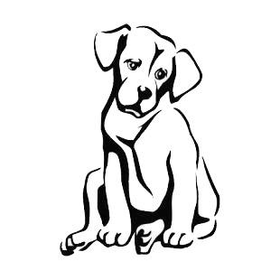 labrador retriever dogs decals decal sticker 4288. Black Bedroom Furniture Sets. Home Design Ideas