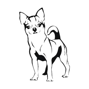 Chihuahua listed in dogs decals.