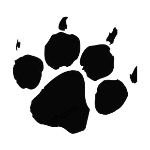 Paw print listed in dogs decals.