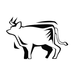 Bull listed in farm decals.