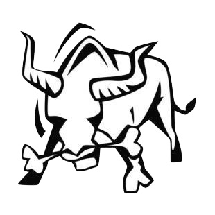 Bull angry listed in farm decals.