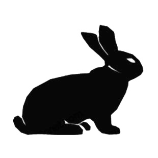 Rabbit sitting down listed in farm decals.