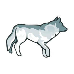 Wolf listed in dogs decals.