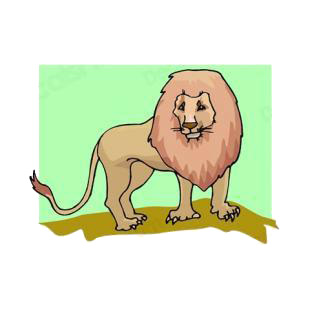 Lion listed in cats decals.