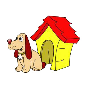 Beagle with dog house listed in dogs decals.