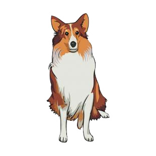 Collie listed in dogs decals.