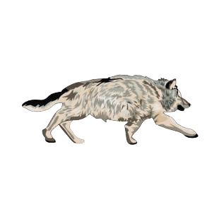 Wolf walking listed in dogs decals.
