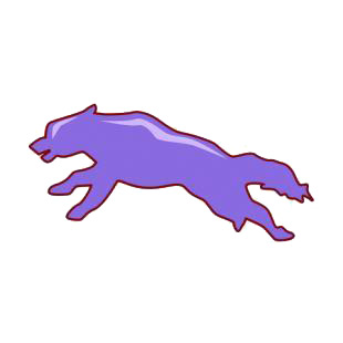 Wolf jumping silhouette listed in dogs decals.