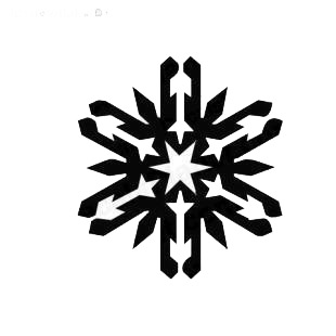 Snow flake christmas listed in snowflakes decals.