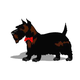 Scottie listed in dogs decals.